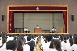 生徒総会を行いました。2