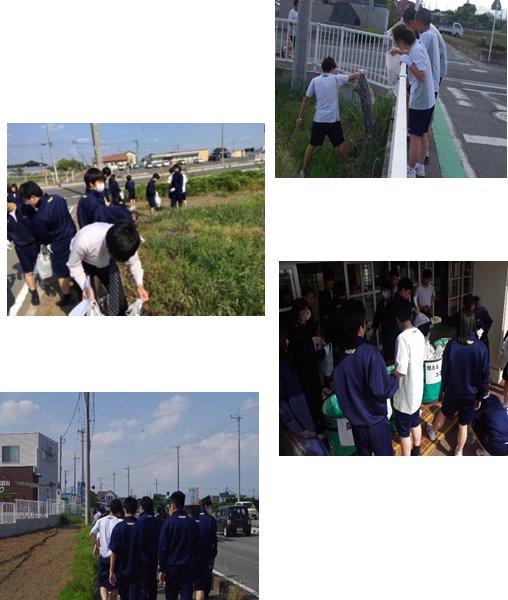 校外清掃活動(3学年)